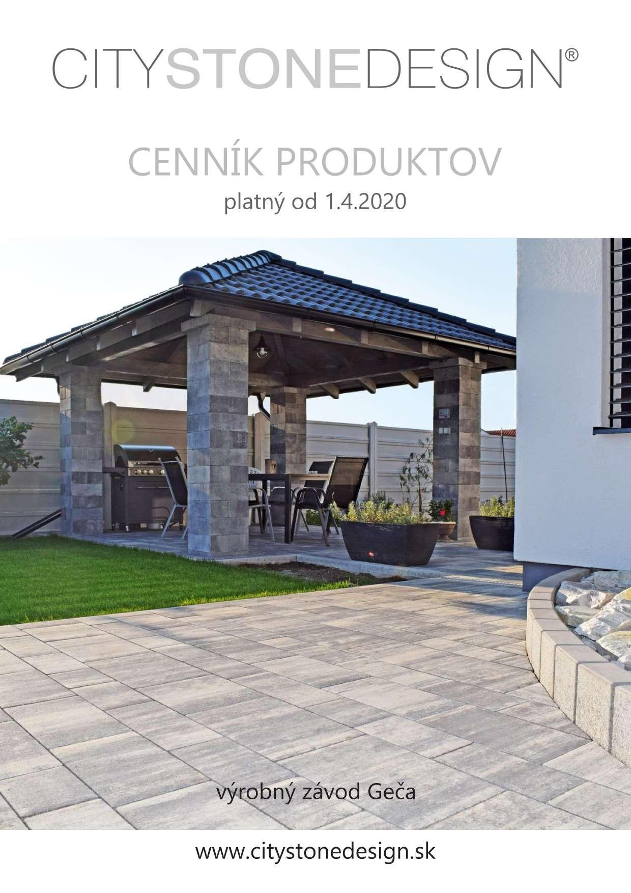 cenník city stone design